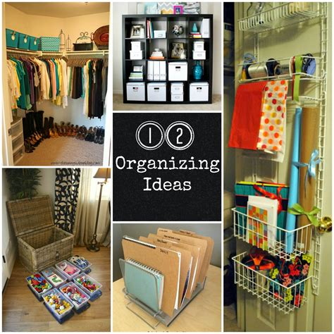 Organizing Home Ideas | 12 organizing ideas fun home things