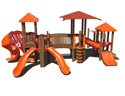 composite swing sets ggr3 0009 composite playset affordable playgrounds by