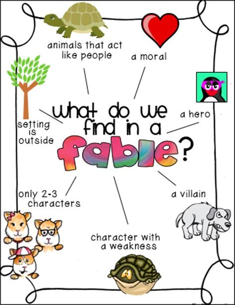 writing a fable template 17 best ideas about folktale anchor chart on