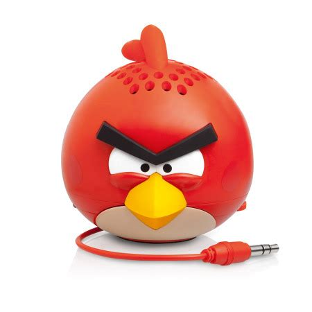 Plush Card Reader Speaker Yellow Angry Birds Mini Speaker gear4 angry birds g4pg778g mini speaker bird