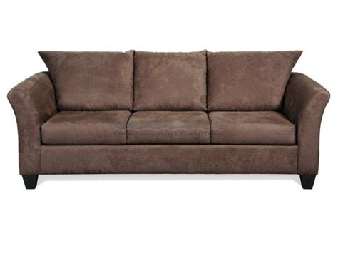 Modern Microfiber Sofa Serta 1000 Chocolate Contemporary Microfiber Sofa