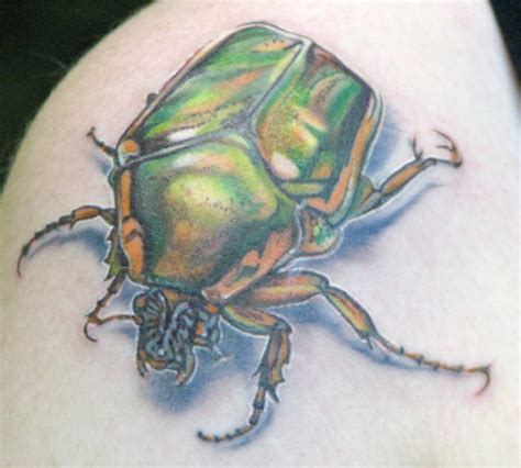 june bug tattoo insect tattoos cakehead evil