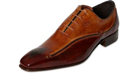 Handmade Leather Shoes Uk - harris handmade leather shoes with 3d stitching in brown