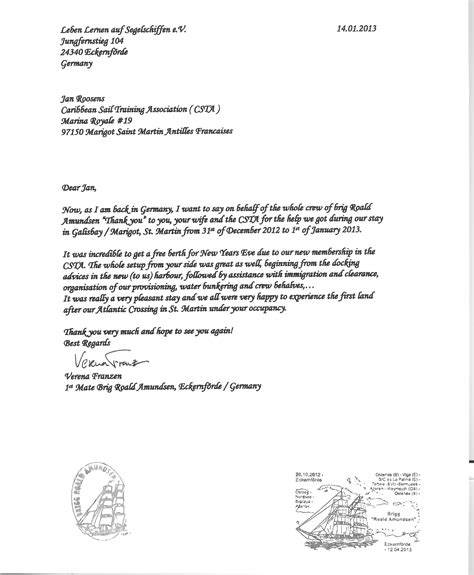 certification recommendation letter caribbean sail association cst