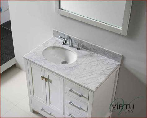 Rounded Bathroom Vanity Virtu Usa 36 Quot Sink Bathroom Vanity Caroline Vu Gs 50036 Wmro Wh