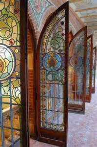 stained glass door stained glass exterior door gate