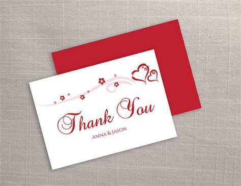 Diy Thank You Cards Template by Diy Printable Wedding Thank You Card Template 2373282