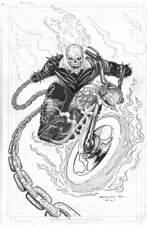 The Ghostrider Comic Art | Comic Book Art | Comic art, Art