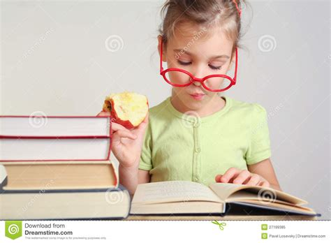 read z in glasses read book royalty free stock photo