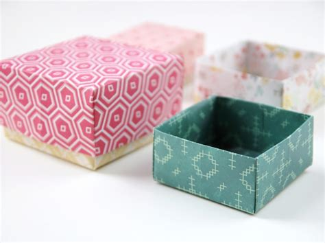 How To Make A Small Box Out Of Construction Paper - diy origami gift boxes gathering