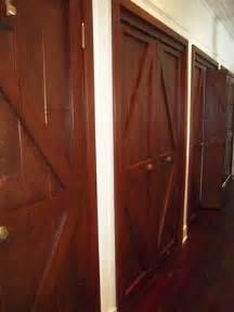 hand  custom reclaimed wood bi fold closet doors