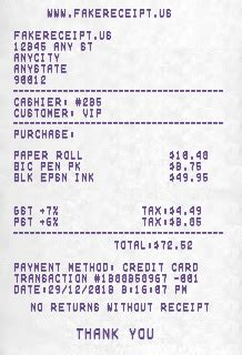 supermarket receipt template 5 receipt maker generator tools