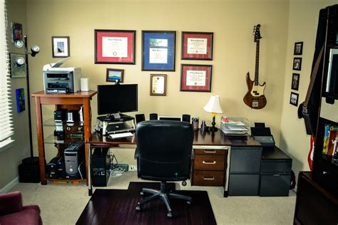 how to setup a home office in a small space serious home office cable management daniel vreeman