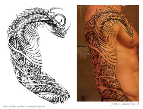 customize tattoos custom design lionfish designs