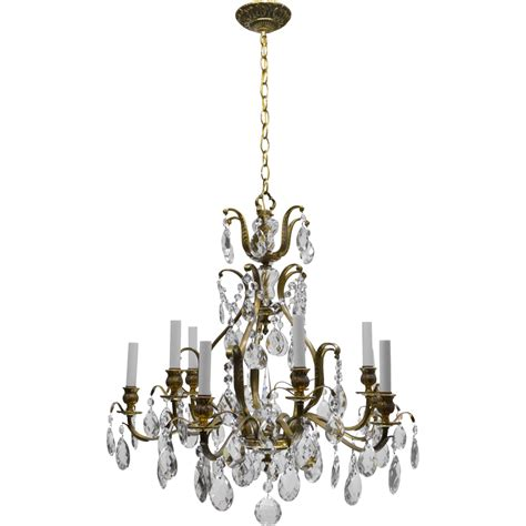 Swedish Chandeliers Vintage Swedish Chandelier Brass 10 Lights From Tolw On Ruby