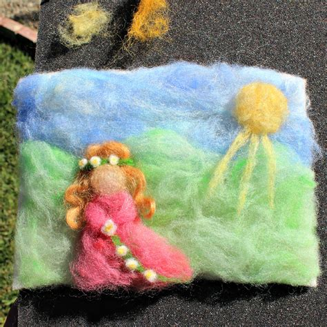 school christmas craft wsldorf school kimmy s tableau princess needle felted needle felted painting tree