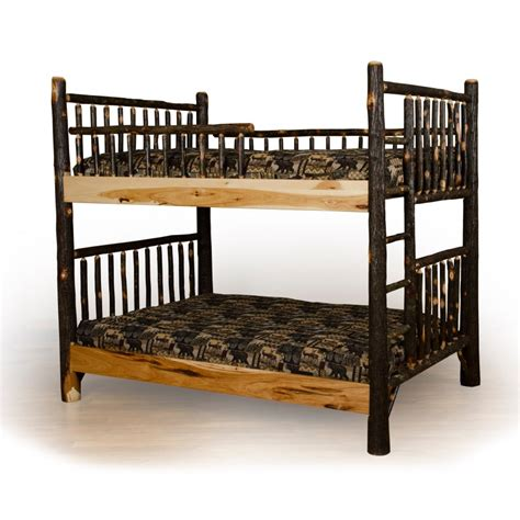 rustic log beds rustic hickory and oak