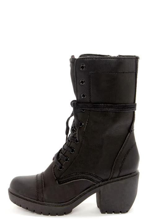 combat high heel boots black boots high heel boots combat boots 95 00