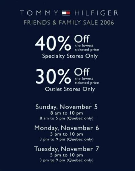 printable tommy hilfiger outlet coupons tommy hilfiger quebec friends family sale canadian