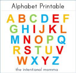alphabet printable for magnet matching the intentional momma