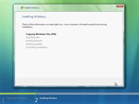 install windows 10 vista how to do a clean installation of a windows vista computer