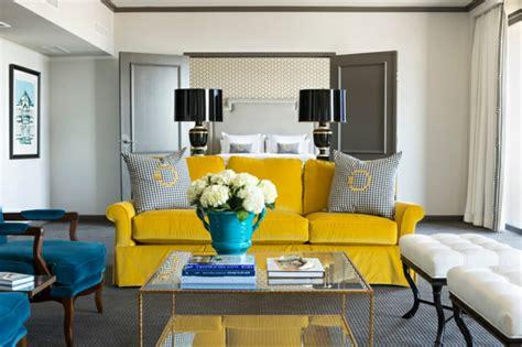 Salon Gris Bleu Jaune by Decoration Salon Moderne Gris Et Jaune