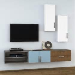 Délicieux Meuble Tv Leroy Merlin #1: meuble-tv-spaceo-home-effet-chene.jpg