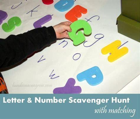 up letter scavenger hunt letter number scavenger hunt for preschoolers to learn
