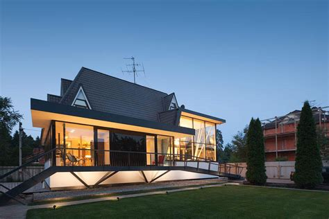 modern european home design modern european cottage style house with arched top floor