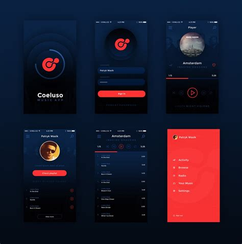 design application psd 10 mobile app ui psd free download images mobile app