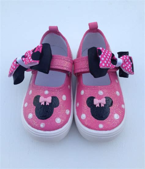 minnie mouse shoe slippers pink minnie mouse shoes by beaucoupboutique on etsy