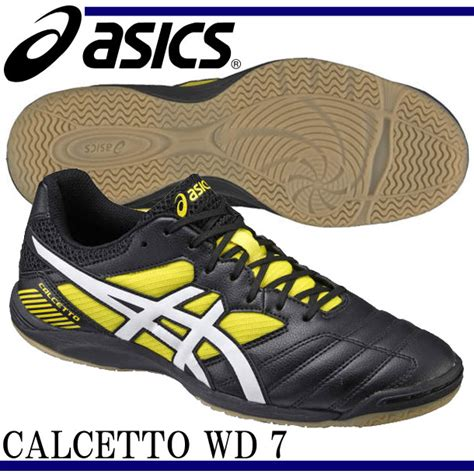 sepatu futsal asics calcetto wd 7 black yellow