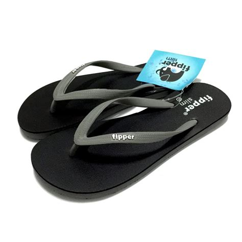 Sandal Fipper Slim Black Black harga jual sandal fipper balisandal santaisandal