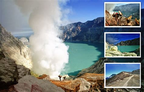 find  great volcanic view  ijen crater tourism