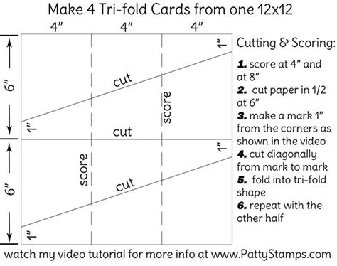 Tri Fold Single Card Template by Tutorial How To Make A Tri Fold Card Patty S