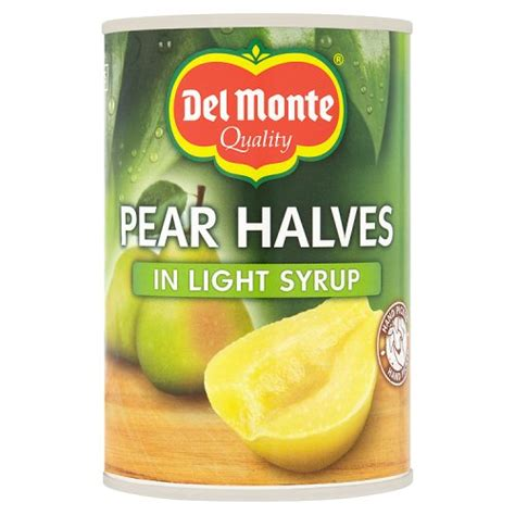 Delmonte In Syrup monte pear halves in syrup