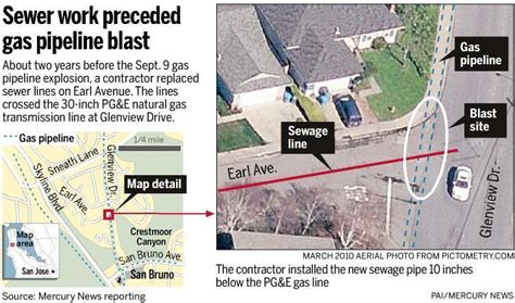 san jose sewer map link between sewer and san bruno explosion grows