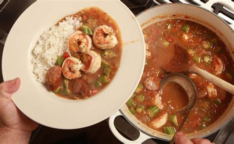 shrimp gumbo  andouille sausage recipe nyt cooking