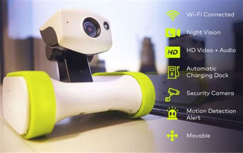smartphone controlled home security robot robotic