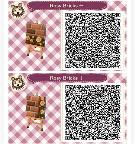 acnl qr codes paths acnl rosy brick path again animal crossing qr codes