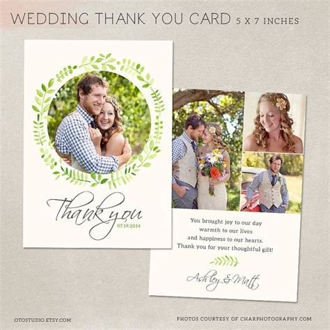 thank you cards for wedding dinner template wedding thank you card template for photographers psd