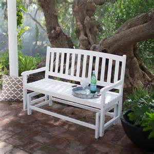 Patio Gliders by Coral Coast Pleasant Bay Curved Back Outdoor Glider