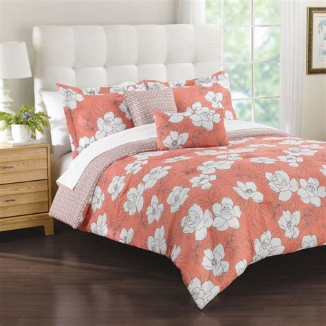 coral sets margaux 5 comforter set in coral from bed bath beyond
