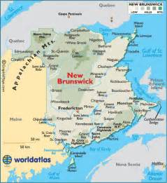 new brunswick on canada map new brunswick canada large color map on