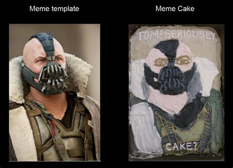 Bane Meme - bane meme cake art cake and cupcake ideas pinterest