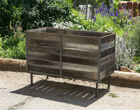 steel frame planters with cedar inserts 1 custom by