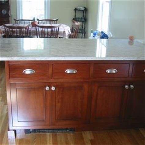 birch kitchen island custom a kitchen in red birch by steepleview cabinetry