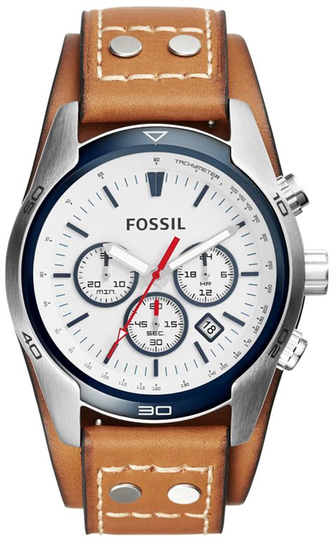 Fossil Ch 2890 Silver Brown fossil ch2986 gents coachman
