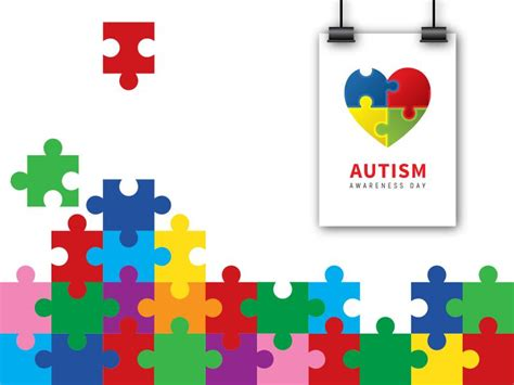 autism puzzle template autism puzzle for awareness backgrounds for powerpoint