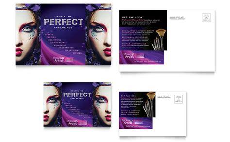 makeup artist flyers templates makeup artist postcard template design